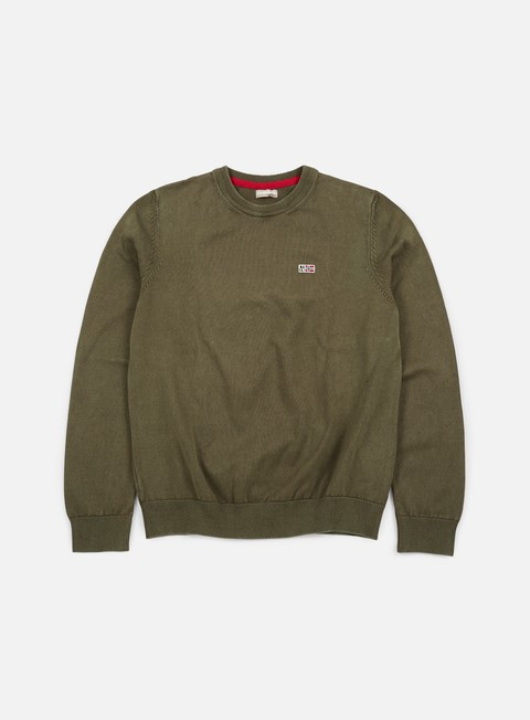 felpe napapijri davesh crewneck sweater grey olive