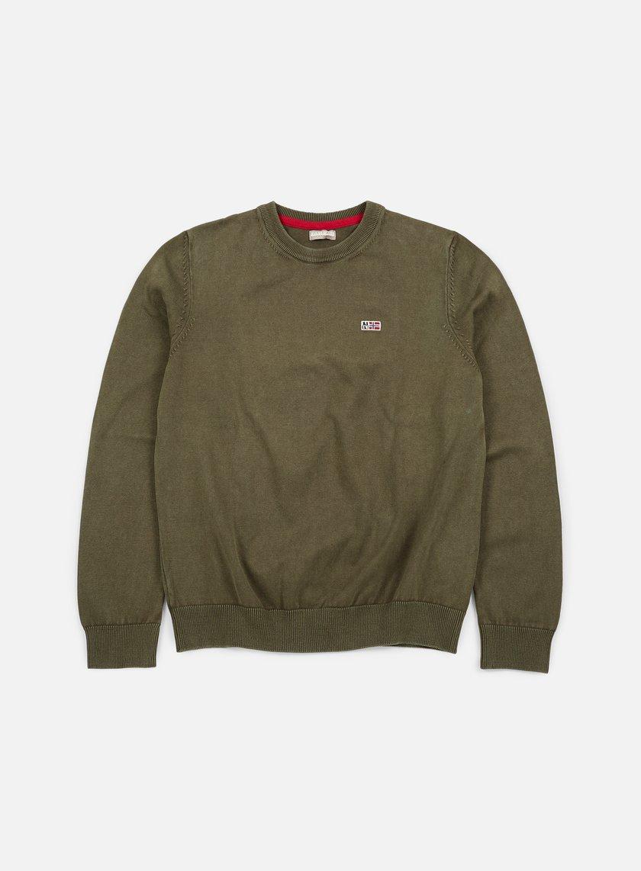 Napapijri - Davesh Crewneck Sweater, Grey Olive