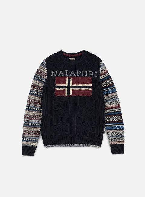 felpe napapijri dingle crewneck sweater blu marine