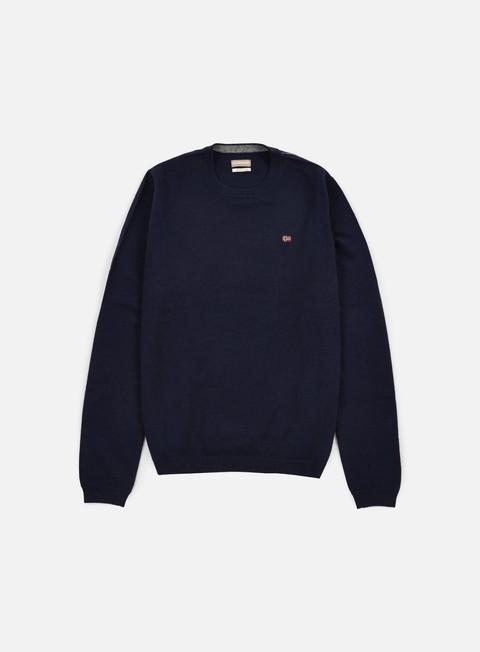 felpe napapijri dorek crewneck sweater blu marine