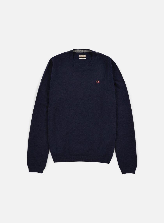 Napapijri - Dorek Crewneck Sweater, Blu Marine