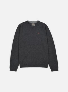 Napapijri - Dorek Crewneck Sweater, Dark Grey Melange