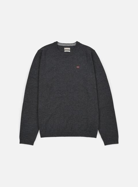 felpe napapijri dorek crewneck sweater dark grey melange