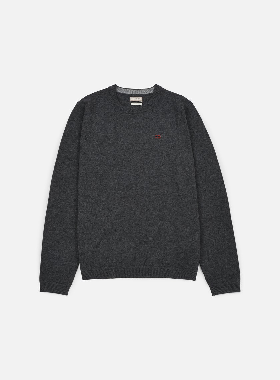 Napapijri - Dorek Crewneck Sweater, Dark Grey Melange