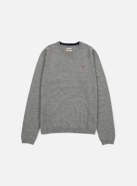 felpe napapijri dorek crewneck sweater medium grey melange