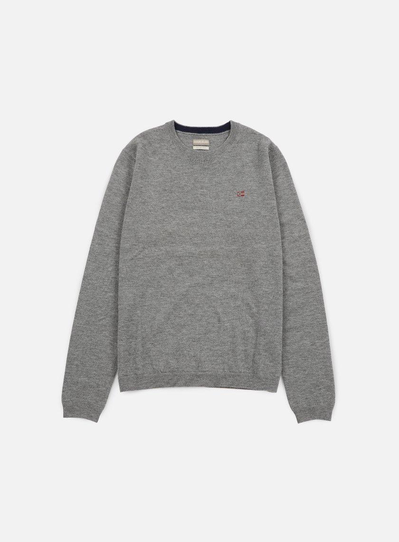 Napapijri - Dorek Crewneck Sweater, Medium Grey Melange