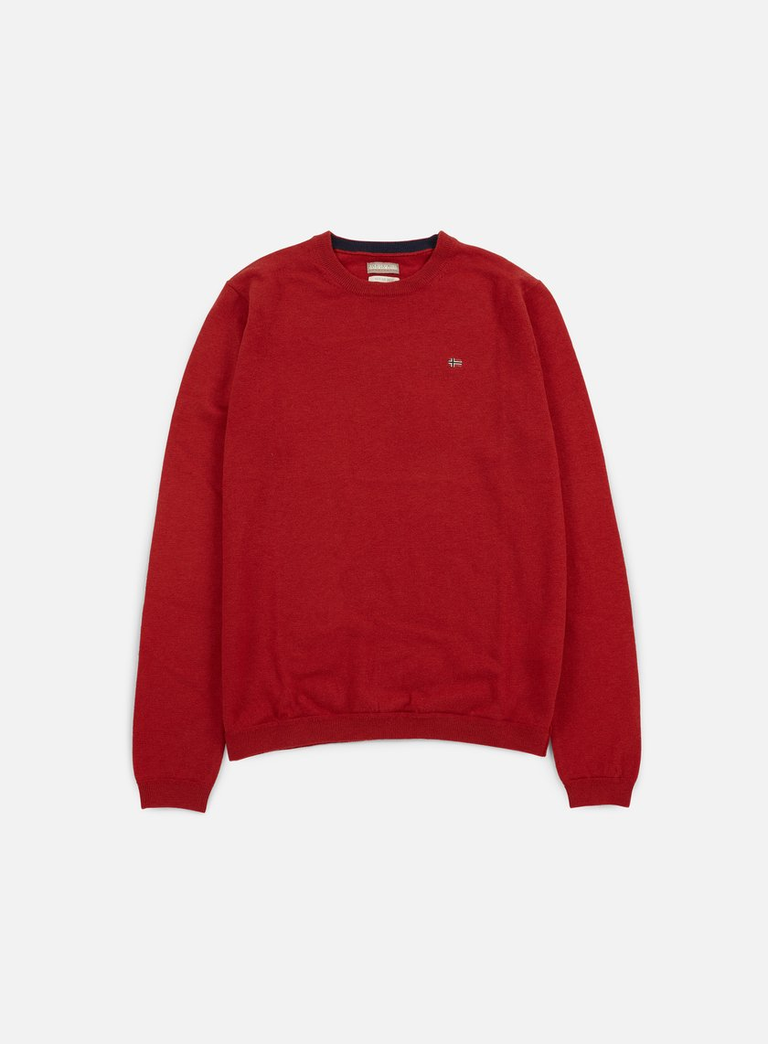 Napapijri - Dorek Crewneck Sweater, Old Red