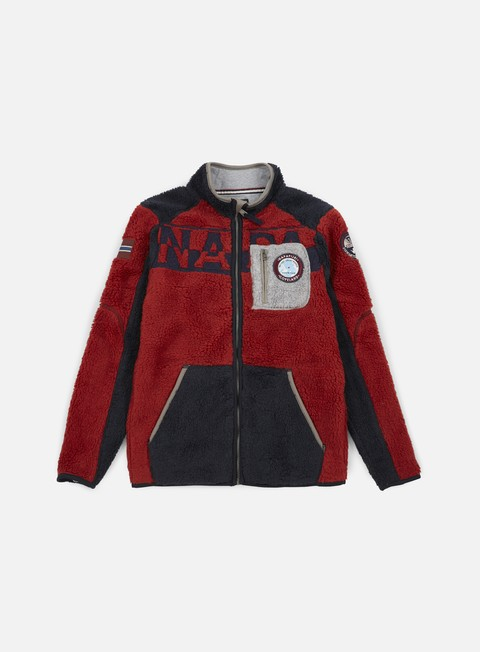 felpe napapijri tennip jacket red multi