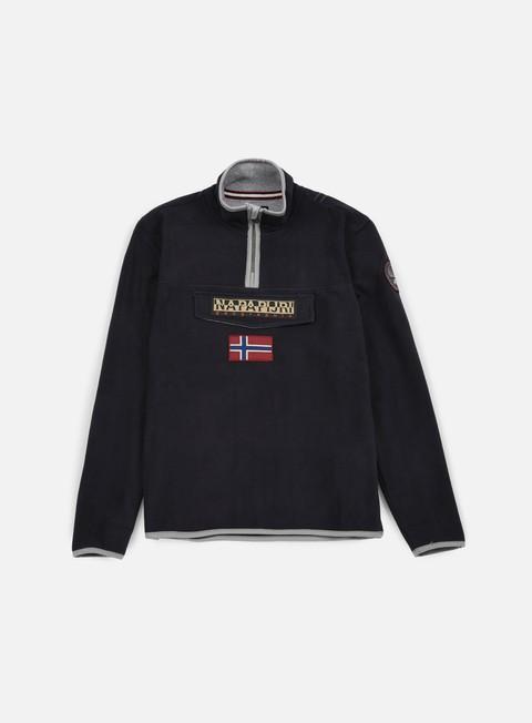 felpe napapijri tosy half zip sweatshirt black