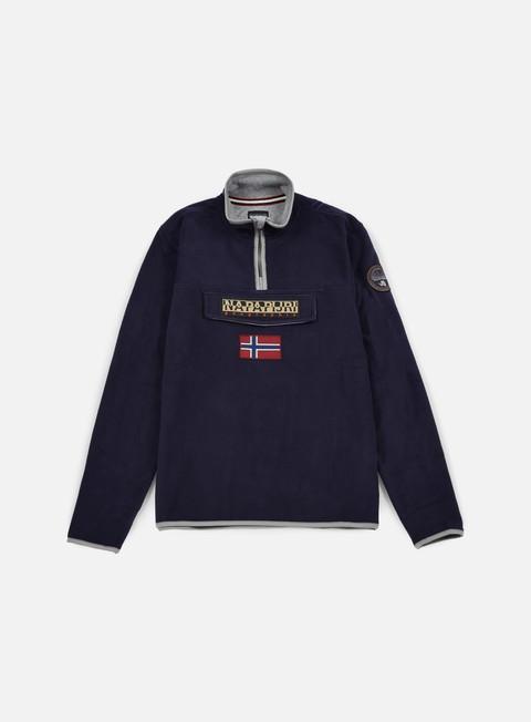 felpe napapijri tosy half zip sweatshirt blu marine