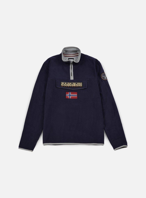 Napapijri - Tosy Half Zip Sweatshirt, Blu Marine