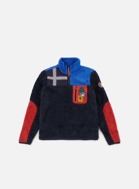 Sale Outlet Zip hoodie Napapijri Yupik Half Zip Pile