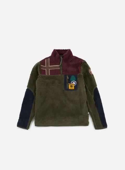 Sale Outlet Zip Sweatshirts Napapijri Yupik Half Zip Pile