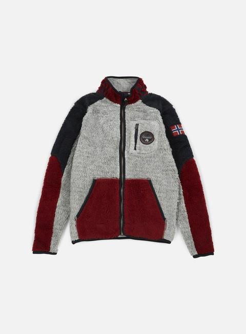 felpe napapijri yupik stand jacket grey multi