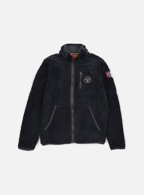 felpe napapijri yupik stand solid jacket blu marine