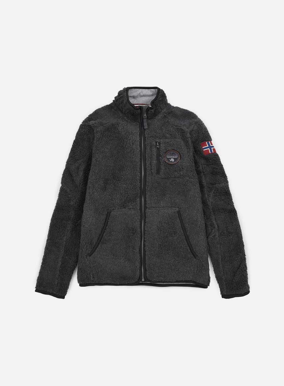 Napapijri - Yupik Stand Solid Jacket, Dark Grey Melange