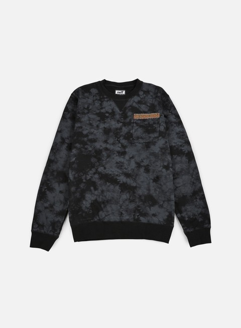 felpe neff hill crewneck black