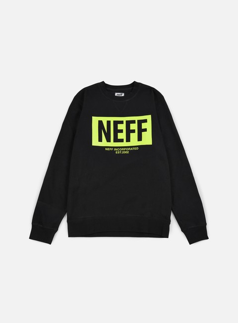 felpe neff new world crewneck black