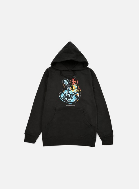felpe neff paz digi tribe hoodie black