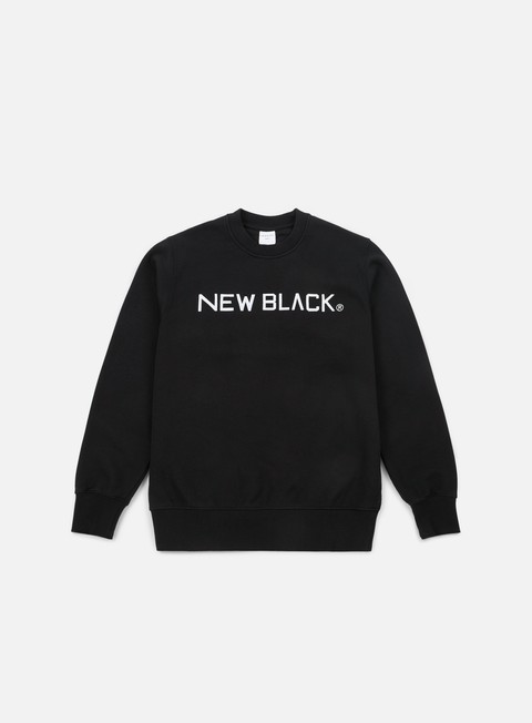 Outlet e Saldi Felpe Girocollo New Black Logo Crewneck
