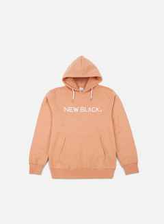 New Black - Logo Hoody, Coral