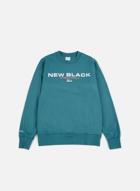 felpe new black sport crewneck aqua