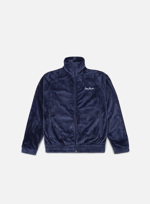 felpe new black velour track jacket navy