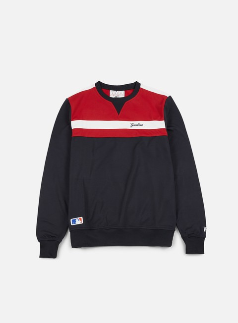 felpe new era border edge crewneck ny yankees navy