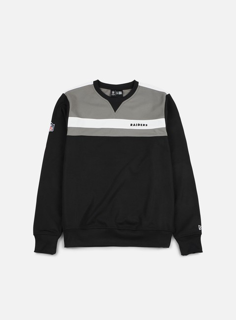 felpe new era border edge crewneck oakland raiders black