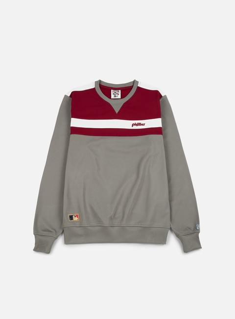 Outlet e Saldi Felpe Girocollo New Era Border Edge Crewneck Philadelphia Phillies