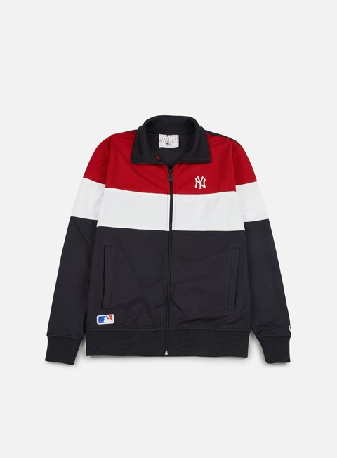 felpe new era border edge track top ny yankees navy