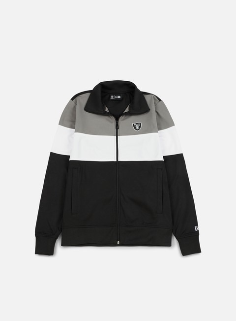 Outlet e Saldi Felpe con Zip New Era Border Edge Track Top Oakland Raiders