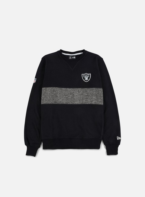 felpe new era concrete crewneck oakland raiders black