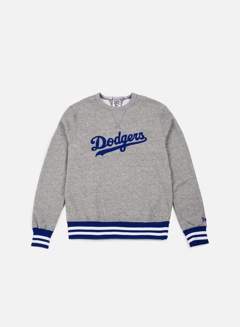 felpe new era heritage crewneck brooklyn dodgers grey royal blue