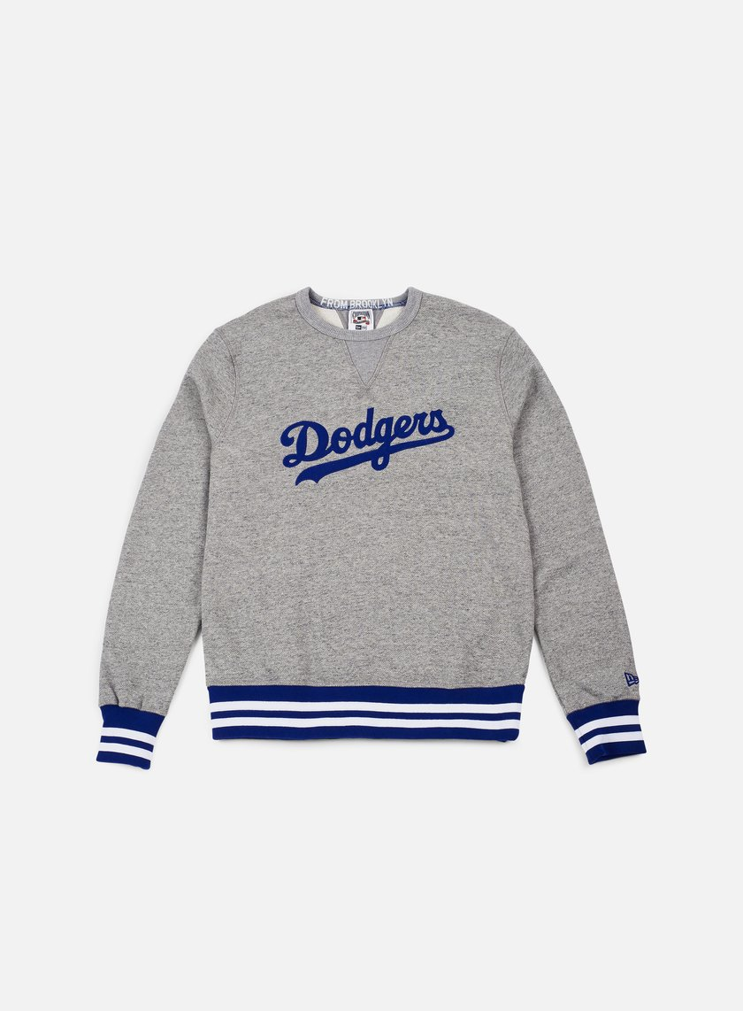 New Era - Heritage Crewneck Brooklyn Dodgers, Grey/Royal Blue