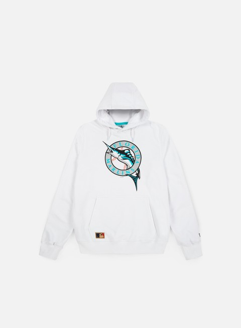 felpe new era mlb coast 2 coast hoody florida marlins white