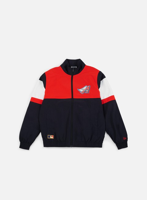 felpe new era mlb coast 2 coast track jacket anaheim angels navy red