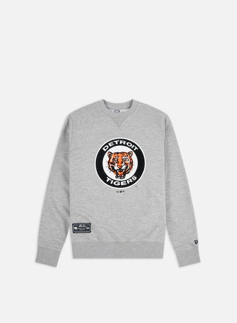 New Era MLB Cooperstown Fleece Crewneck Detroit Tigers