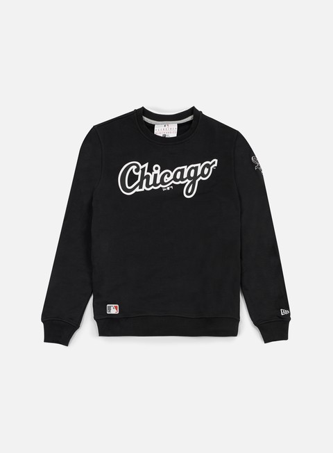 felpe new era mlb crewneck chicago white sox black