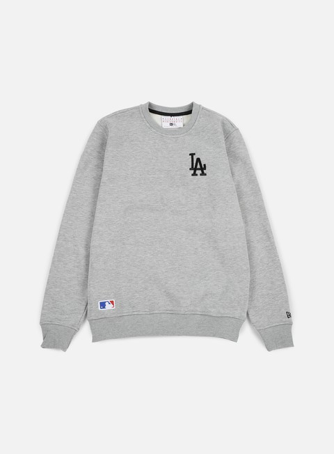 felpe new era mlb crewneck la dodgers light grey heather