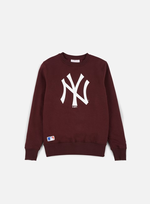 felpe new era mlb crewneck ny yankees maroon