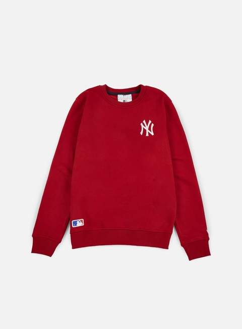 felpe new era mlb crewneck ny yankees scarlet