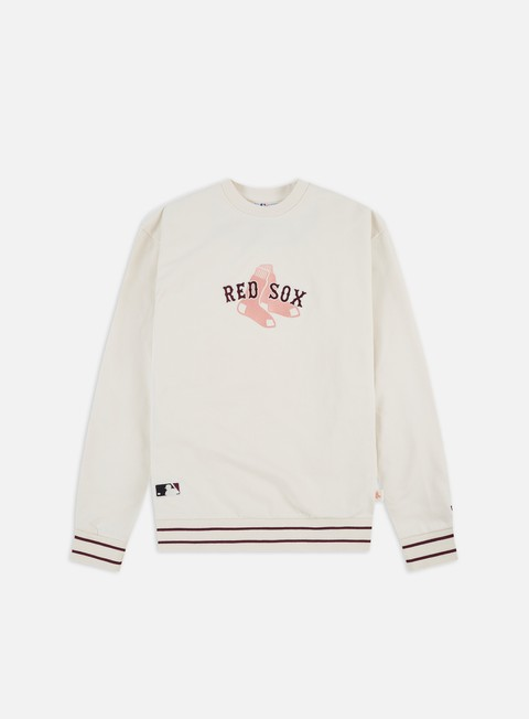 Outlet e Saldi Felpe Girocollo New Era MLB Heritage Script Crewneck Boston Red Sox