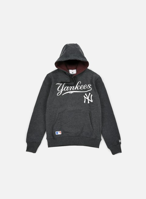 felpe new era mlb hoody ny yankees grey heather