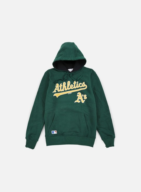 felpe new era mlb hoody oakland athletics dark green