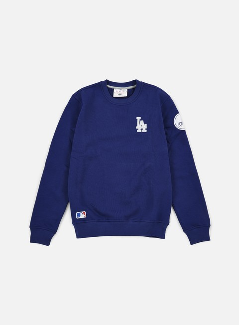 felpe new era mlb patch crewneck la dodgers dark royal