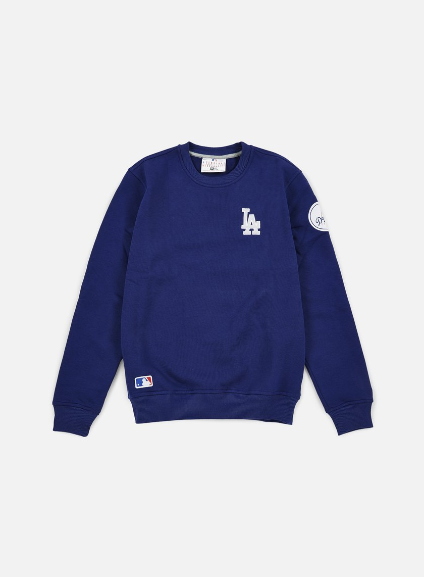 New Era - MLB Patch Crewneck LA Dodgers, Dark Royal