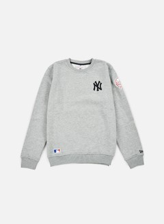 New Era - MLB Patch Crewneck NY Yankees, Heather Grey 1