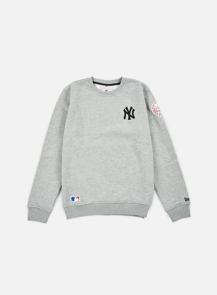 New Era - MLB Patch Crewneck NY Yankees, Heather Grey