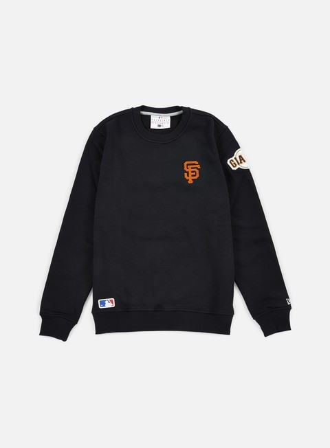 felpe new era mlb patch crewneck san francisco giants black